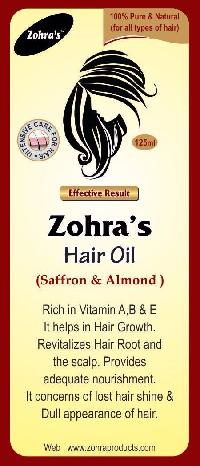 Almond and saffron mix hair oil