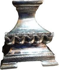 Silver Coated Wooden Candle Stand