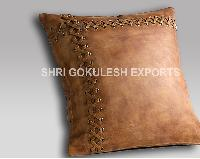 Leather Hair On Cushion Cover