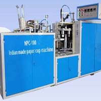 The NPC 100 new model indian made paper cup machine
