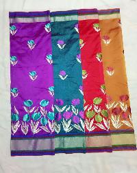 Emrodery design silk saree