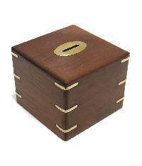 Wooden Money Box