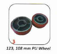 PU and Rubber 123 x 108mm Wheel