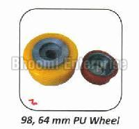 PU and Rubber 98 x 64mm Wheel
