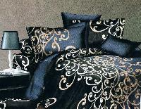 Floral Print Velvet Bed Cover