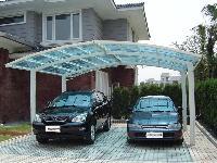 Polycarbonate car shed