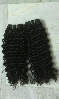 16 Inch Curly Human Hair Weft