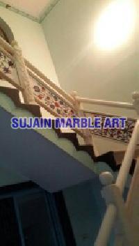 Marble Inlay Railings