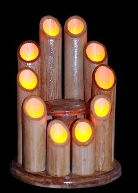 Bamboo LED Night Lamp