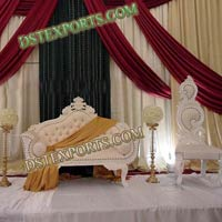 Asian Wedding Elegent White Furniture