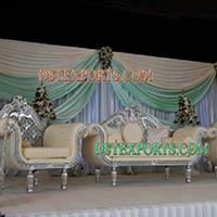 Asian Wedding Silver Sofa Set