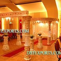 Wedding Fiber Crystal Mandap Set