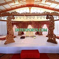 Indian Wedding Handcarved Peacock Mandap