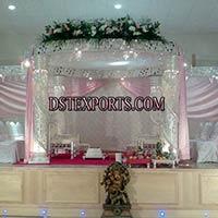 Silver Wedding Crystal Mandap