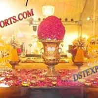 Wedding Decorated Golden Pot