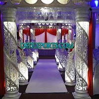 Wedding Fiber Crystal Mandap Set with Welcome Gate