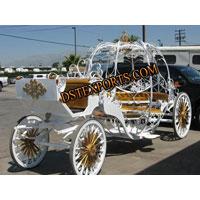 Wedding Golden Cinderala Carriage