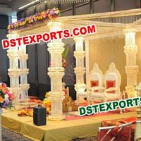 Wedding Six Crystal Pillar Mandap