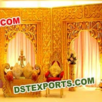 Wedding Stage Carved Backdrop Walls