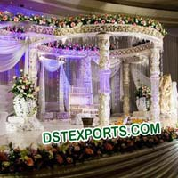 Wedding Traditional Crystal Mandap
