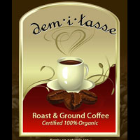 Certified Organic Roasted Coffee Powder