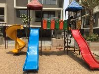 Double Wave Slide With Mini House