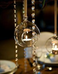 Glass Hanging Light Bowl