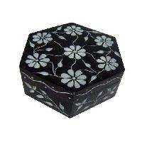 Black Marble Stone Box