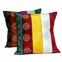 2 Traditional Indian Ethnic Multi Color Beautiful Design Dupian Work Cushion Covers