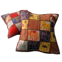 25pc Applique Embroidery Cushion Covers
