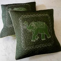 25pc Ethnic Green Hand Embroidered Cushion Covers