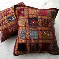 Embroidered Red Cushion Covers