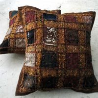 5 Brown Embroidery Cushion Covers