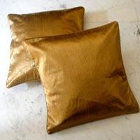 Golden Color Cotton Cushion Covers