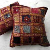 5 Red Embroidered Cushion Covers
