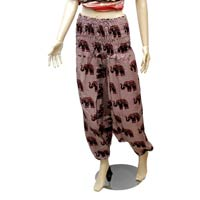 Casual Aladdin Afghani Yoga Pant for Womans in Cotton Fabric with Elastic Waist from India