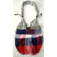 Cotton Canvas Boho Hobo Handcrafted with Fringes Indian Sling Cross Body Long Shoulder Bag