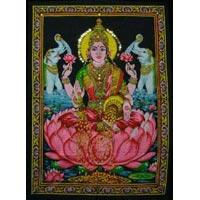Cotton Fabric Goddess Lakshmi