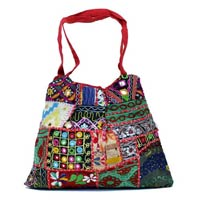 Cotton Multi Color Embroidery Mirror Work Hippie Boho Tote Indian Sling Shoulder Bag