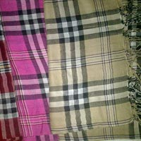 Viscose Burberry Design Stole - Manufacturer, Exporters and Wholesale Suppliers,  Jammu & Kashmir - Cashmere Crafts