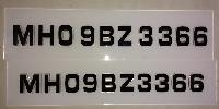 ACRYLIC LAYER Car Number Plate