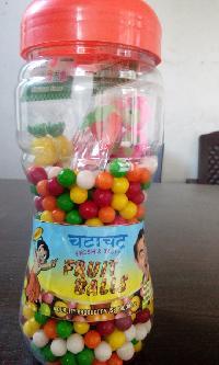 mix fruit balls jar