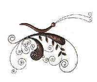 Handmade Iron Amish Butterfly Wall Hanging