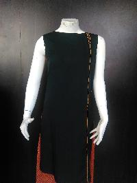 Front Coding Back Mirror Work Embroidery Work Kurti