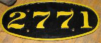 Railway Number Plates