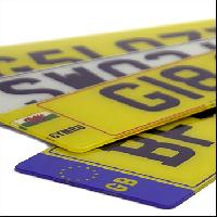 retro reflective number plates
