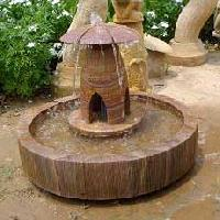 Rainbow Sandstone Fountain