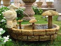 Teak Sandstone Fountain