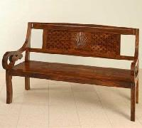 Three Seater Wooden Sofa