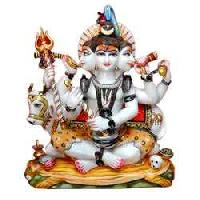 White Marble Lord Shiva Statue